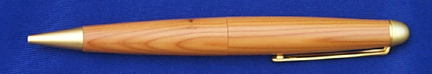 Photo of a pen made from Yew from Cobham Park